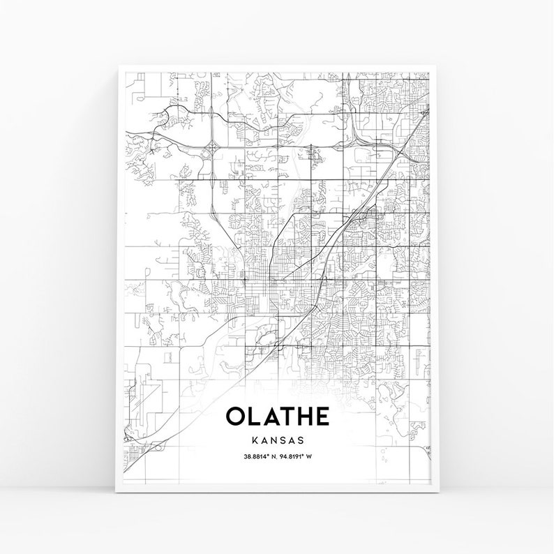 Olathe Map Print, Kansas KS USA Map Art Poster, City Street Road Map on usa map in miami, statue of liberty in kansas, usa map kansas city, zip code map in kansas, animals in kansas, dinosaurs in kansas, weather in kansas,