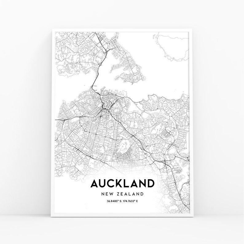 Printable Map New Zealand.Auckland Map Print New Zealand Map Art Poster City Street Road Map Print Nursery Room Wall Office Decor Printable Map 164w