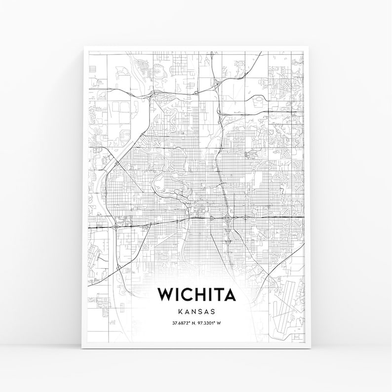 Wichita Map Print, Kansas KS USA Map Art Poster, City Street Road Map on milton ma on us map, houston tx on us map, lexington ky on us map, meridian ms on us map, columbia md on us map, independence mo on us map, lancaster pa on us map, flagstaff az on us map, longview tx on us map, lincoln ne on us map, lawton ok on us map, louisville ky on us map, memphis tn on us map, los angeles ca on us map, las vegas nv on us map, jackson ms on us map, allentown pa on us map, fargo nd on us map, joplin mo on us map, knoxville tn on us map,