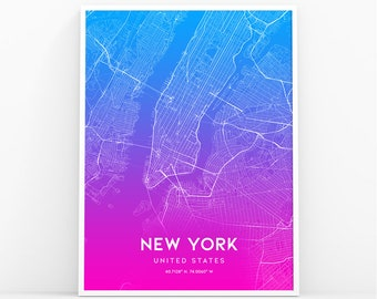 new york map print manhattan nyc map manhattan map poster nyc ny map united states map print new york city 001p
