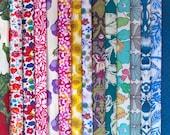 15 Liberty Fabric Scrap Bundle 5 quot x5 quot Charm Squares MULTICOLOURS Floral Abstract Patchwork Craft Quilting