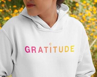89f768e07d8 Gratitude Hoodie Gratitude Sweatshirt Gratitude Shirt Yoga Gift Thankful  Hoodie Blessed Hoodie Spiritual Hoodie