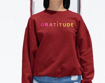 7a009a77987 Yoga Sweatshirt Yoga Sweater Gratitude Sweatshirt Yoga Shirt Grateful Shirt  Blessed Shirt Thankful Sweater