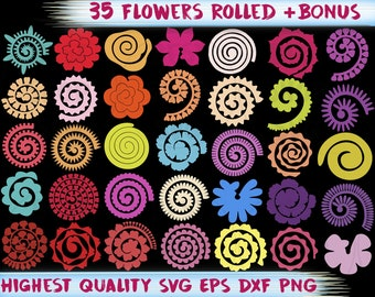 Rolled Paper Flowers Etsy