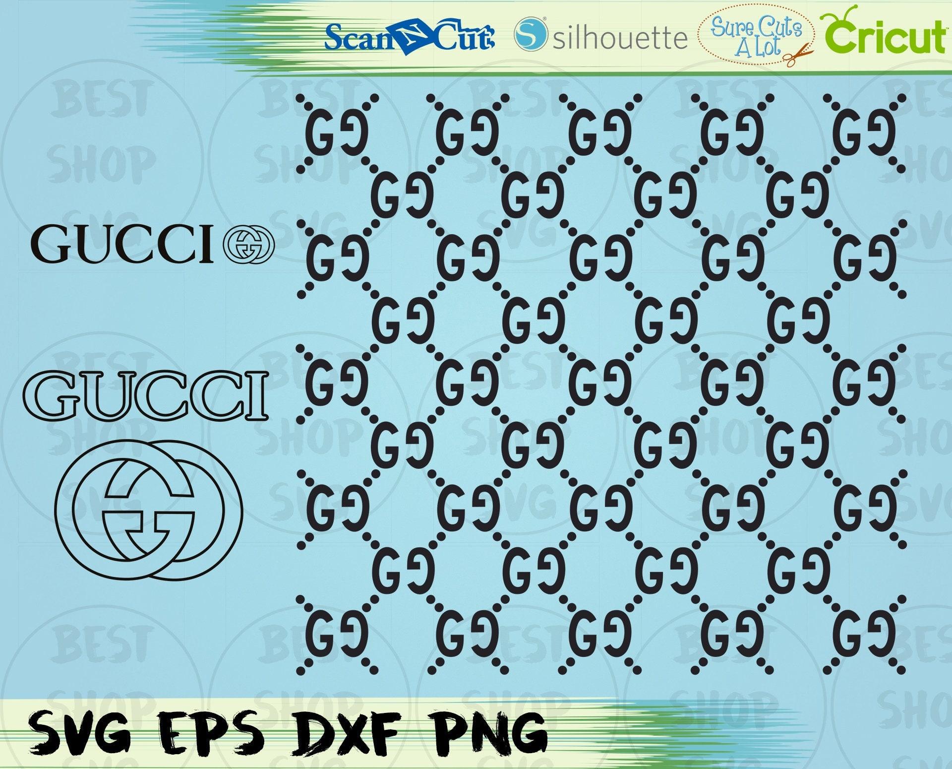 gucci pattern gucci logo gucci svg gucci grid svg cut etsy