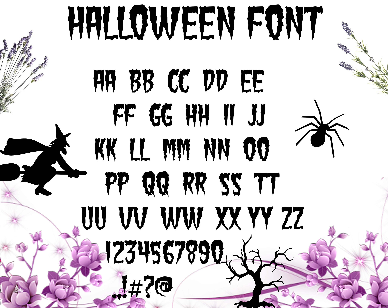 Halloween font svg file/ Halloween alphabet svg, dxf/ Printable/ SVG cut  file/ Vector/ Digital/ Print/ Instant download