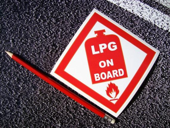 Self Adhesive LPG LARGE Sticker Car Caravan Motorhome