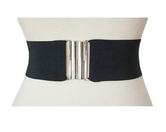 Black Wide Stretch Elastic Belt