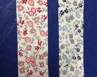 Oblique tape with flowers * 30 mm