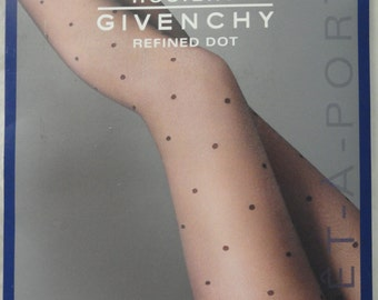 e870c1d2d5dc7 8 pairs Givenchy Hosiery Refined Dot Le Jet Black SZ B Old New Stock!