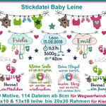 Baby leash embroidery set design