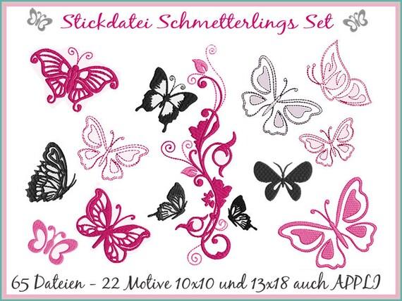 Stickdatei Schmetterlinge Giga Set Stickmuster | Etsy