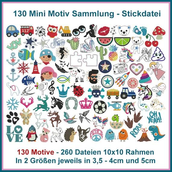 Stickdatei Mini Motiv Sammlung Stickmuster | Etsy