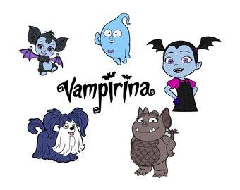 Superb Vampirina SVG, Vampirina Cut Files, Vampirina Clipart, Vampirina Layered,  Vampirina Printable, DXF, PNG Files, Eps Files, Instant Download