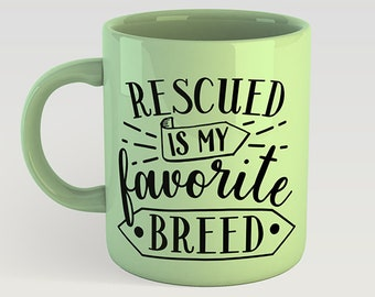 Rescued Breed Svg Etsy