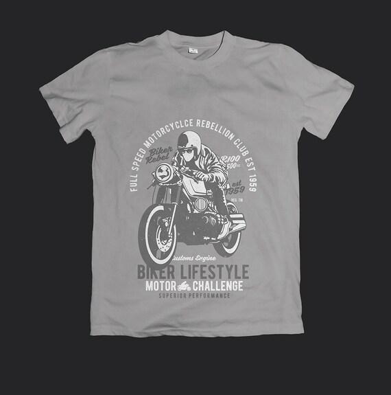Motard chemises fichier Svg homme papa Vintage T Shirt Svg vélo moto tasse Mug Svg Image couper fichier pour Cricut Biker Club style de vie vélo Rider