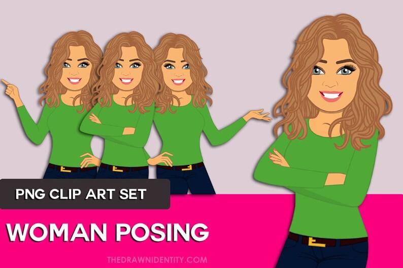 Woman Clip Art  Character Design Illustration Avatar  Woman image 1