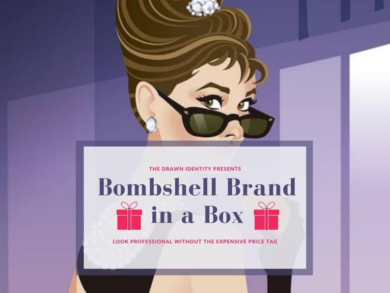Bombshell Brand in a Box  DIY Brand Design & Logo Design image 0