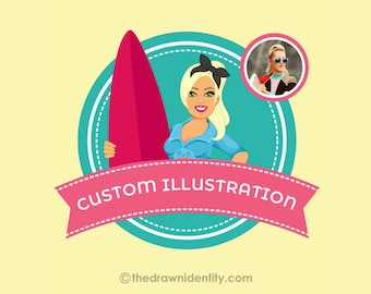 Custom Illustration   Digital Portrait   Personalized Gift   Digital Art   Digital File   Graphic Design