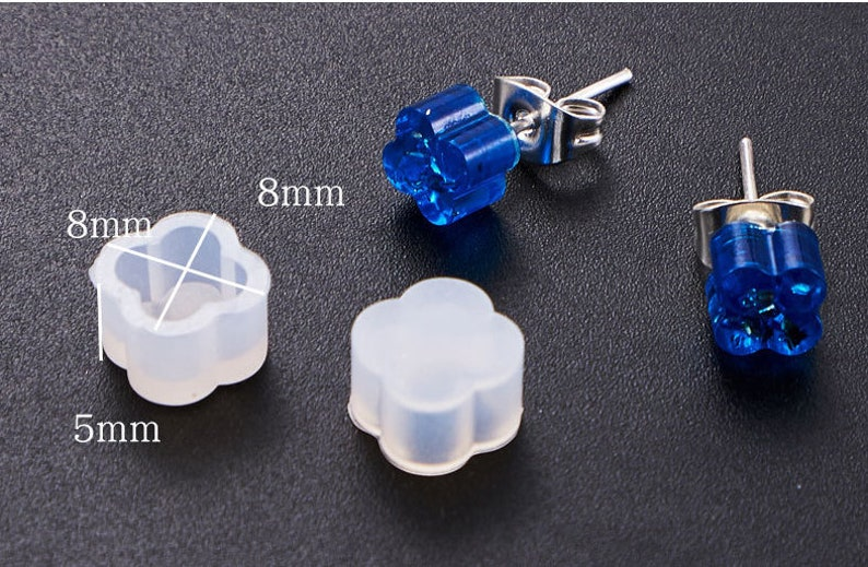 DJ/_M/_212 2 pieces Gem Silicone Mold Resin Silicone Mould Jewelry Making Epoxy Resin Molds Jewelry Earring Resin Mold