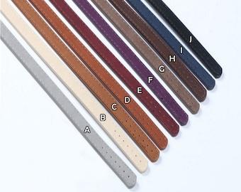 1 Pair of 65cm PU Leather Strap Adjustable Shoulder Bag Replacement Handbag Handle Purse Handle Purse Strap (ST_L_038)
