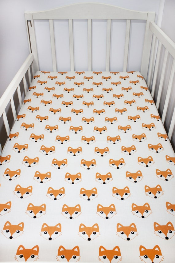 baby bedding unisex crib sheet Woodland cot sheet nursery bedding nursery sheet toddler sheet fitted cot sheet bear cot sheet
