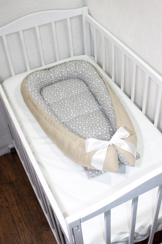 Baby Nest Stars Baby Bed Star Portable Travel Co Sleeper Baby Sleeper Portable Crib New Born Size Co Sleeper Babynest Brown Gray Baby Cocoon