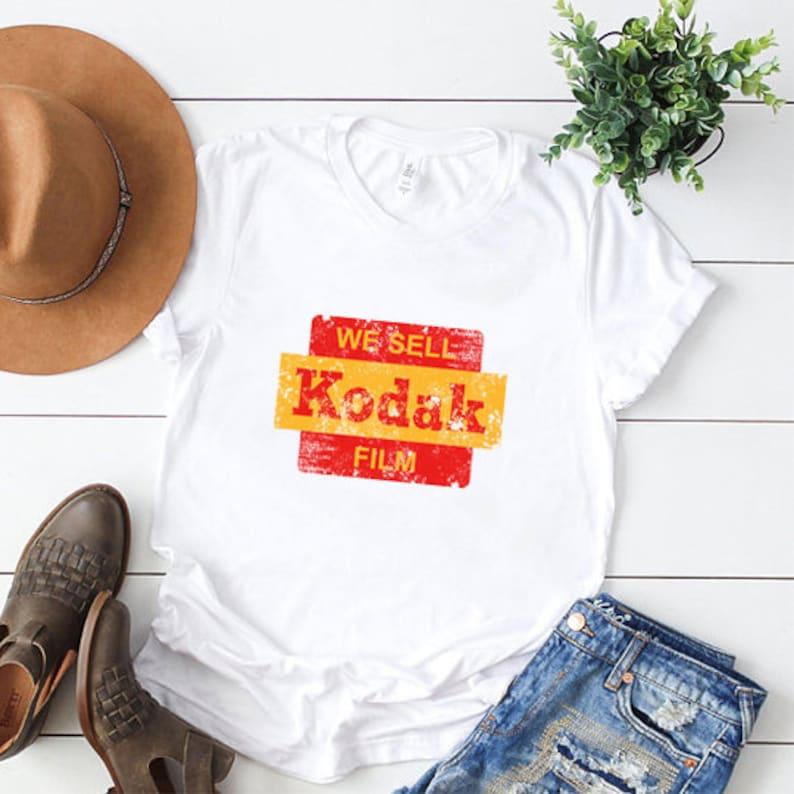 Vintage Kodak Logo T Shirt Camera Film T Shirt Unisex Woman Kids Camera Shirt Photographer Shirt Christmas Gift For Photographer