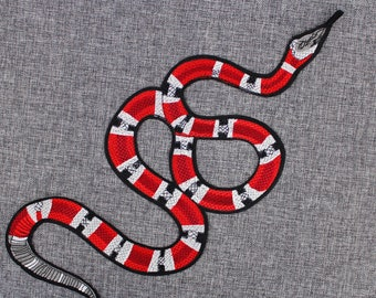 8185332db8174b Gucci Coral Snake Patch Gucci Snake Iron On Patch 16.9   x 7.1   Gucci  Large Snake Embroidery Patch Top-Quality Gucci Fashion Patch  PC09