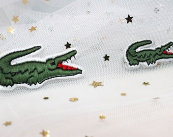 15725d54d58f0c Lacoste Patch Lacoste Embroidery Iron On Patch Green Lacoste Inspired Patch  Designer Inspired Patch LACOSTE Patch Crocodile Patch PC42  PC43