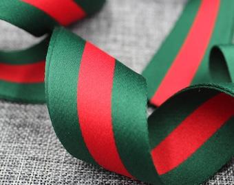 28054cf6f1f6c1 Gucci Ribbon 1.5   Gucci Green   Red Ribbon Gucci Ribbon Gucci Inspired  Ribbon Gucci Classic Ribbon Top Quality High Fashion Ribbon  RB03