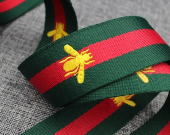 5086ab252dde6e Gucci Bee Belt 1.5   Gucci Queen Bee Webbing Gucci Golden Bee Embroidery  Belt Gucci Embroidery Webbing Top Quality High Fashion Belt  RB05