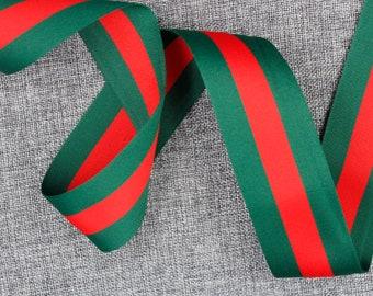 9748c859f0565e Gucci Ribbon 2   Gucci Green   Red Ribbon Gucci Ribbon Gucci Inspired  Ribbon Gucci Classic Ribbon Top Quality High Fashion Ribbon  RB35