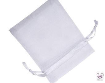 10x Jewellery bags 7 x 9 cm WEISS Organza / gift bag organzasäckchen white white white