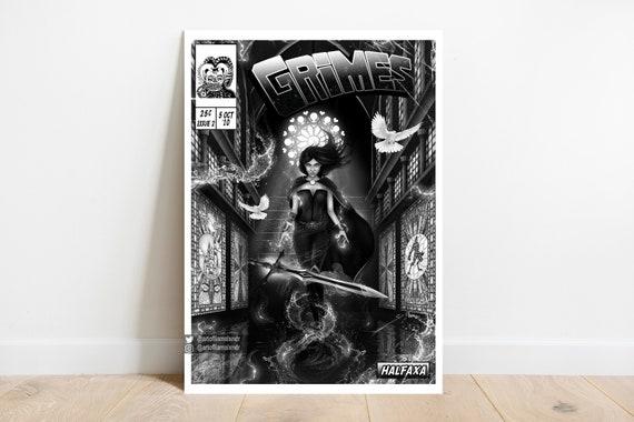 5 Prints Grimes Collection Comic Book Cover Art