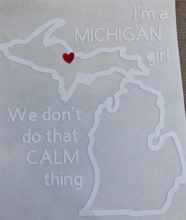 Michigan Girl Decal