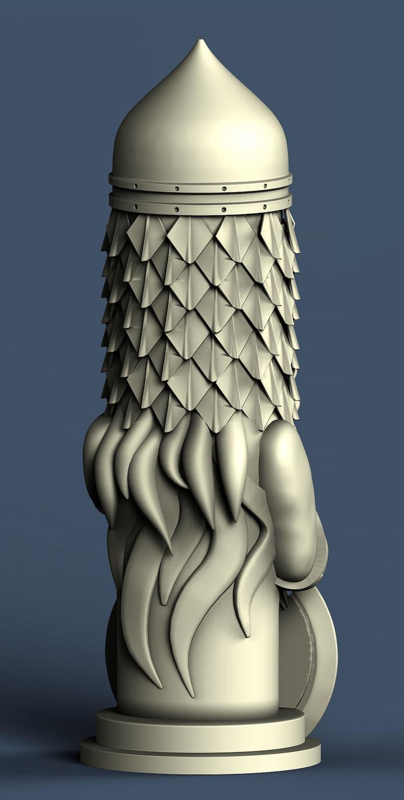 3D STL model for CNC Warrior