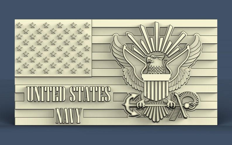 3d STL model for CNC U S  Navy