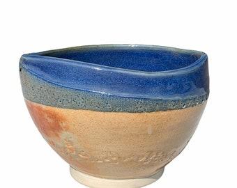 "Vtg. Abstract Bronze Glaze Bowl Planter 5"""