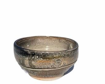 """Vtg. Abstract Earth Tone Bowl Dish 6"""""""