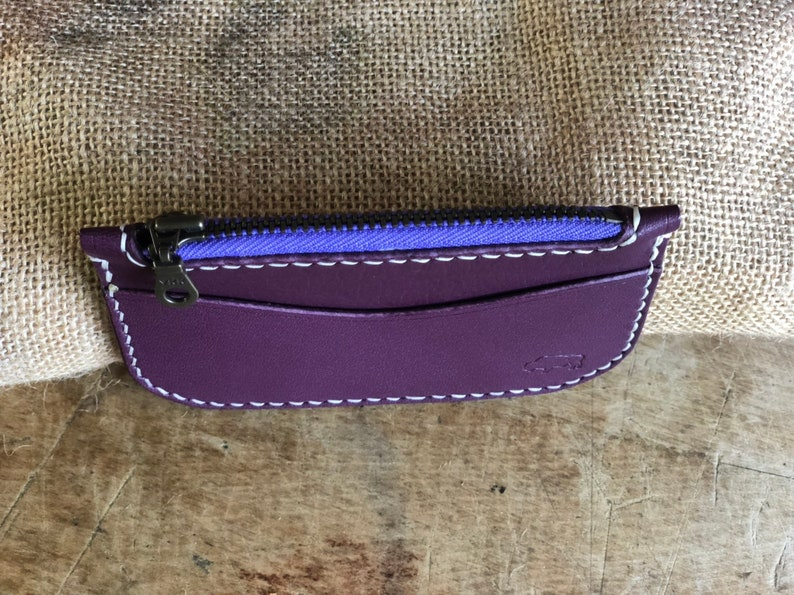 Leather Coin Purse With Card Slots