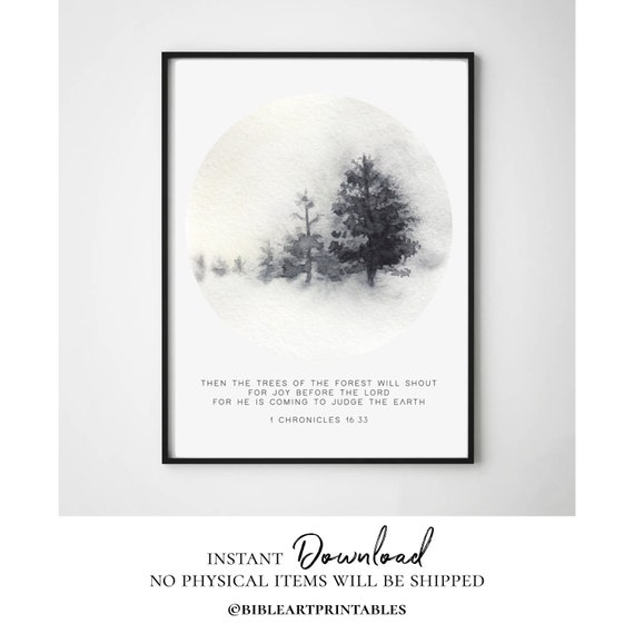 1 Chronicles 16 Bible Quote Print Biblical Verse Minimalist Etsy