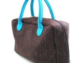 "WEEKENDER Travel Bag ""MOBI"" made of wool felt brewing..."