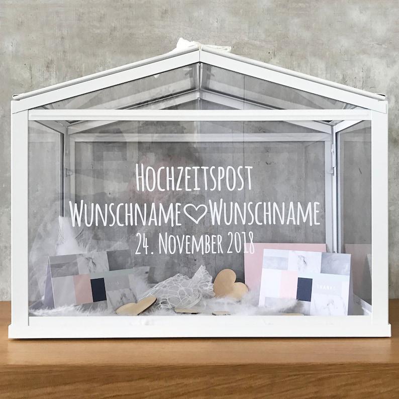 Kartenbox Hochzeit Glas
