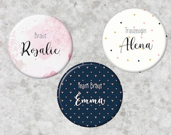 10 Personalized Buttons Badge 59mm 10 Organza Pouchs Thank You Photo Photo Baptism Birth Wedding Confirmation Communion Host Gift
