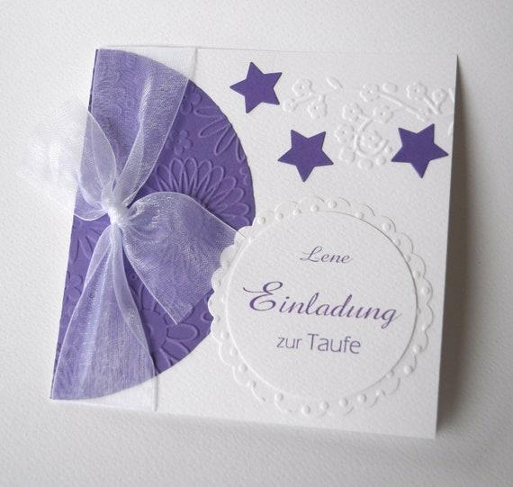 Personalisierte Einladung Sterne Zur Taufe Geburt Kommunion Konfirmation In Vielen Farben