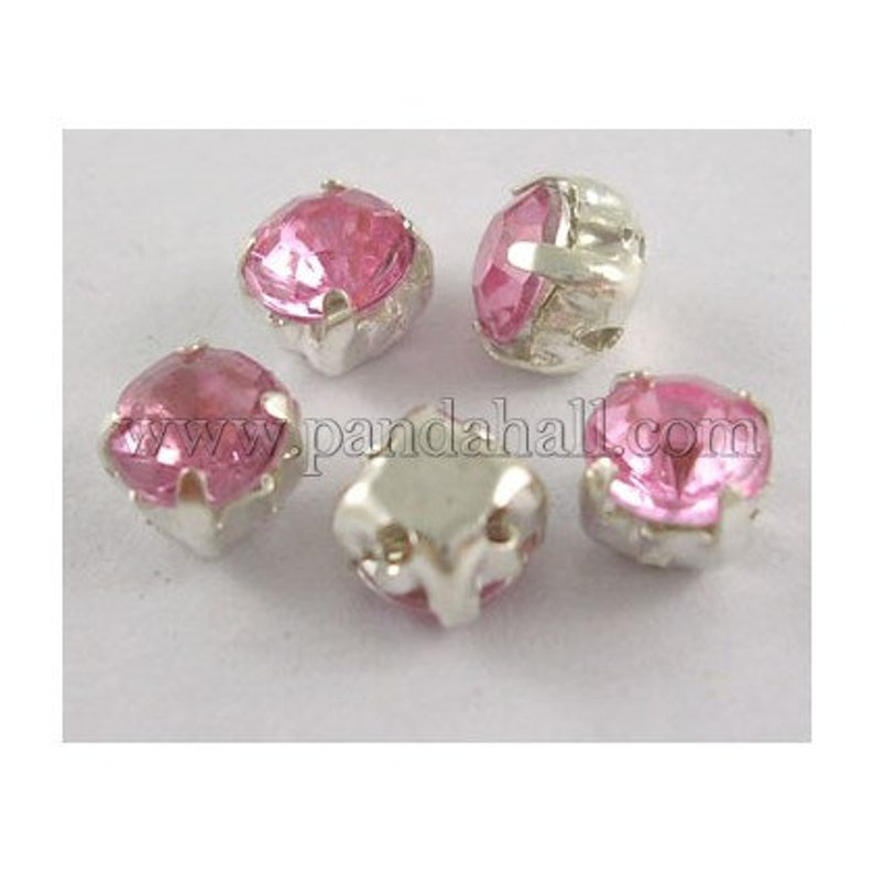 Rhinestones in version 100 piece 5 mm sew on crab rhinestones decorate turquoise pink pink light green red