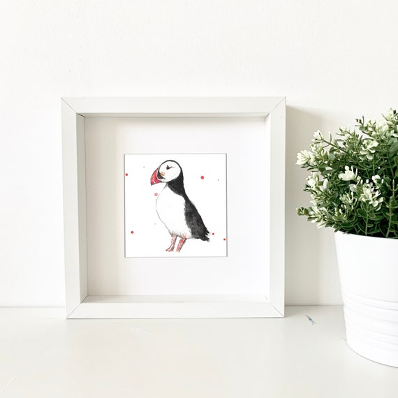 Mini Watercolour Puffin Painting