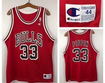 da744298ffb 1990s Chicago Bulls Jersey   90s NBA Scotty Pippen 33 Champion USA Jersey    Men s L XL