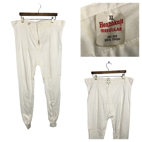 1950s Long Johns Underwear Pants / NOS Thermal Und